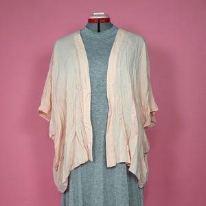 Breezy Pale Pink Kimono Cardigan